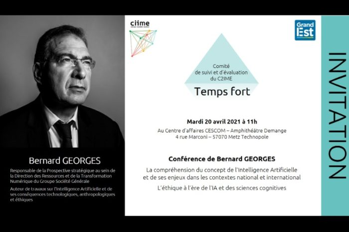 Invitation, Conférence, Bernard Georges, intelligence artificielle